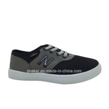 Sapato de lona de passeio do miúdo clássico chinês (L099-S & B)