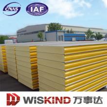 Material de construcción de panel de sándwich de poliuretano / PU / EPS de alta densidad