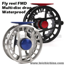 Mulit-disco impermeável arrastar mosca carretel de pesca