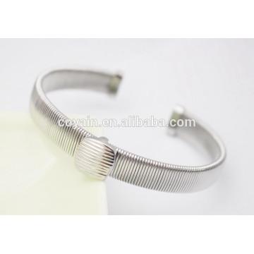 Brazalete de alambre de acero brazaletes de plata de alambre fino brazaletes