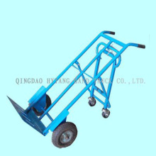 "250kgs heavy load hand trolley.10x3.5"" air wheel,with two-wh"