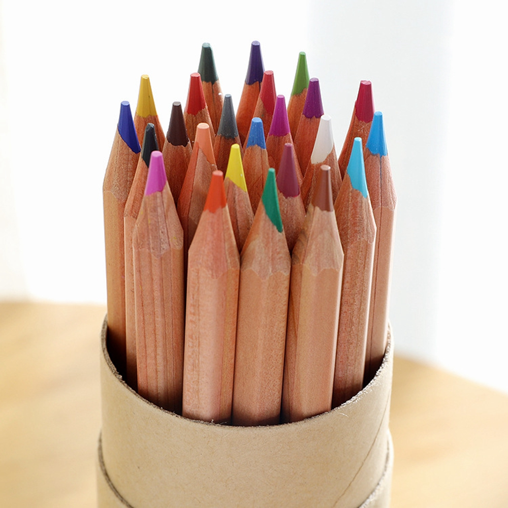 24 Colored Pencils with Paper Tube