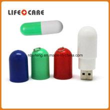 Флэш-накопитель с футляром в форме таблетки