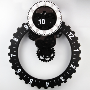 Reloj de pared Big Gear negro