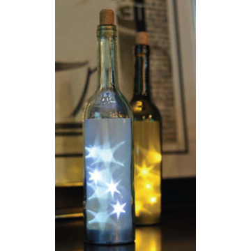 Top for Light Lantern White Roofless Glass Bottle with LED Light export to Armenia Factories