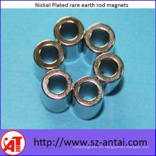Silber Nickel überzogenen Magneten der seltenen Erde Rod