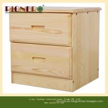 Gabinete de madera con 2 cajones de mimbre con revestimiento