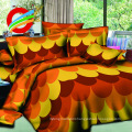 2017 fashion 3d prints pigment fabric for making bed sheets set
