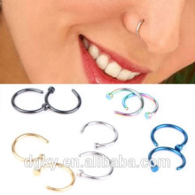 Hot Stainless Steel Nose Open Hoop Ring Boucles d'oreilles Body Piercing Studs Jewelry