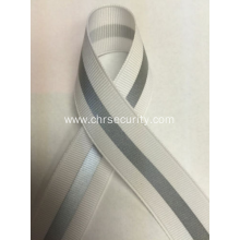 White with grey  reflective ribbon