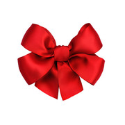 pre-made red gift satin ribbon bows festival