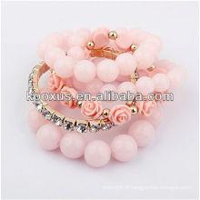 Bracelet de style nouveau 2014 Bracelet de pelleté à la main populaire à perles
