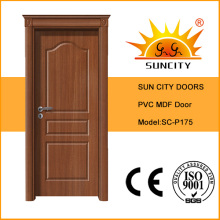 Modern Design Wooden Crown PVC Door, MDF Board Door (SC-P175)