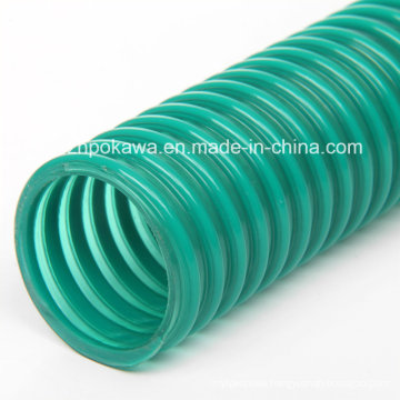 Manufacturer PVC Spiral Hose with Green Helix