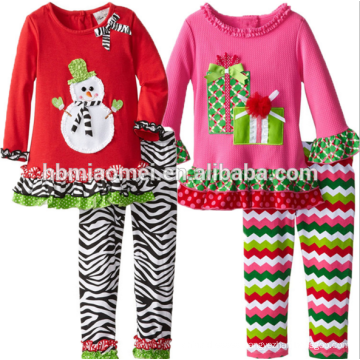 2017 Latest Baby Christmas Clothes Wholesale Boutique Clothing Girls Kid Clothes