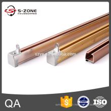 Rail rideau en plastique doré fabriqué en Chine