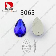 Fabrik Preis Flat Back Drop Capri Blue Nähen auf Kleidungsstück Perlen