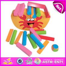 2014 neues hölzernes Block-gesetztes Balancen-Kind-Spielzeug-Satz, populäres reizendes Balancen-Kind-Spielzeug-Spiel, heißer Verkaufs-Spiel-hölzernes Balancen-Kind-Spielzeug W11f037
