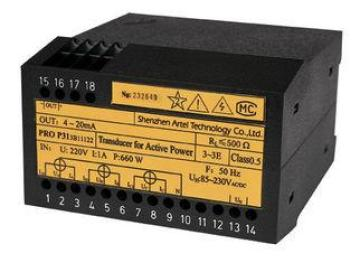 DIN 35mm Rail 220V 500 0A ~ 5A Custom PRO P/Q31 Active / Re