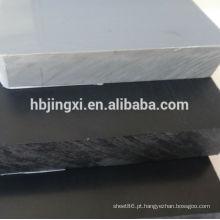 Material de pvc de folhas de plástico colorido preto cinza