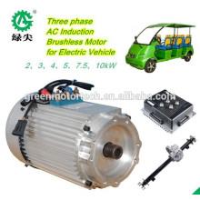 motor de CA eléctrico de baja velocidad del coche 72V de alta calidad