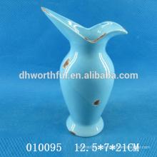 Vaso de flor cerâmica de design clássico, vaso de flor decorativo em alta qualidade