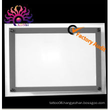 A4 acrylic light box crystal light sign portable display tattoo light box for tattoo