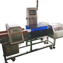 Factory price of metal detector checkweigher in one machine