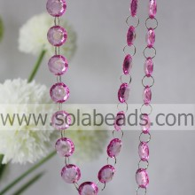 Warm 4 * 14 * 14 MM Crystal Acryl Ring Beading String Garland