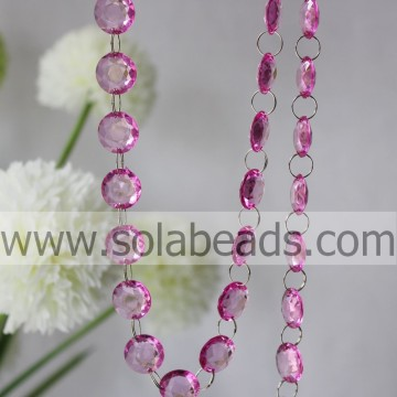 Cold 6*16*16MM Crystal Plastic Ring Beading String Garland