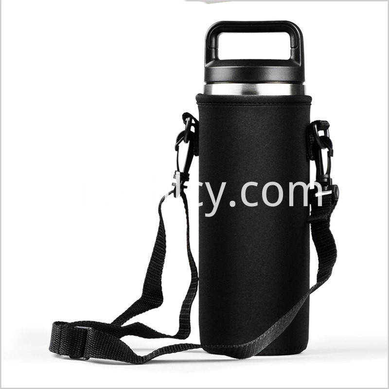 Gym sports water bottle with cage
