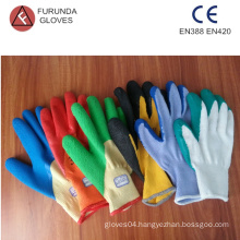latex palm coated poly cotton gloves industrial gloves