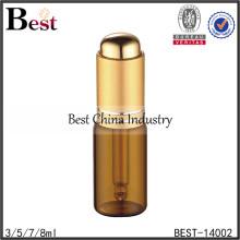 Botella de aceite esencial ambarina de alta calidad 5ml con el dropper, botella de aceite esencial de cristal, proveedor de la botella del dropper de la prensa del pulgar