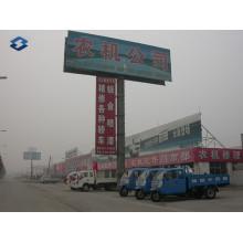 Dois lados Expressway Ad Board Billboard Pólos de aço