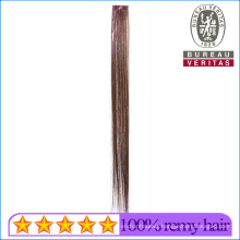 Synthetic Material Colordful Remy Hair 1 Piece Clip Hair Extension with Color Ribbon