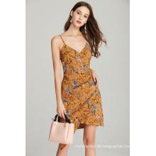 Damen der Art und Weisegurtfrauen druckten Sommerkleid