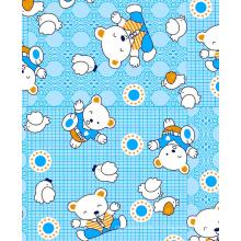 Tissu de flanelle d'impression de polyester de coton tissé