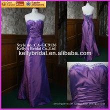 2015 hot sale purple taffeta evening dress