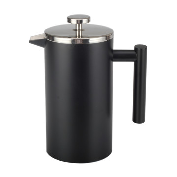 Food Grade Double Wall BlackFrench Press ze stali nierdzewnej