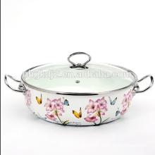 convenient enamel skillet pot for kitchen