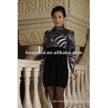 Mode Frauen Pullover Kleid / 100% reine Kaschmir Strick