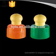 28/410 tampa de garrafa de plástico colorido push pull cap