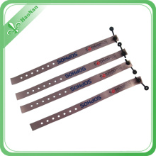 Novelty Product Custom Printed Promotional Wristband with Press Button