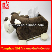 Hot selling high quality new design animal toys plush tissue box