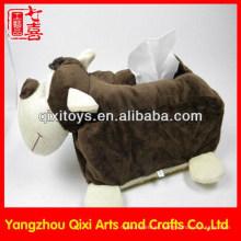 Venda quente de alta qualidade novo design animal brinquedos caixa de tecido de pelúcia