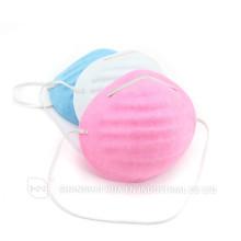 Розовый синий белый Хирургический стоматологический ПЭТ Одноразовая пыль Коническая маска