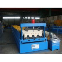 Rollo de cubierta de piso de acero que forma la cadena de producción de la máquina