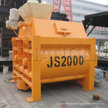 Discount for Js2000 Electric Twin Shaft Portable Concrete Mixer