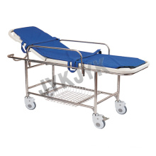 Plastic Bed Base Stretcher Cart with Four Castors