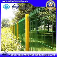 CE & SGS ПВХ покрытием сваренной сеткой сада забор